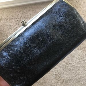 Hobo Lauren Leather Clutch with embossing